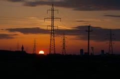 sunset przemysłowe Zdjęcie Stock