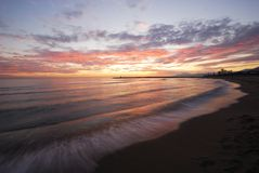 Sunset, Puerto Cabopino, Spain. Royalty Free Stock Photography