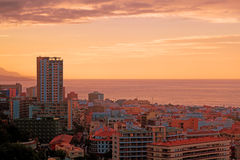 Sunset in Puerto de la Cruz, Tenerife Stock Image