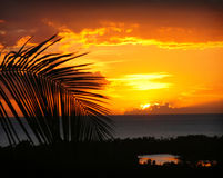 Sunset in Puerto Rico Stock Images