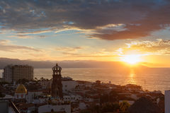 Sunset in Puerto Vallarta Stock Image