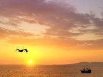 Sunset in Puerto Vallarta Royalty Free Stock Photos