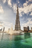 Sunset and puffy clouds in Dubai, UAE Royalty Free Stock Photo