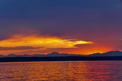 Sunset on Puget Sound Stock Image