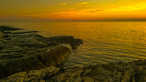 Sunset at Pula bay 5 Royalty Free Stock Photos