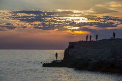 Sunset - Pula - Croatia Royalty Free Stock Images