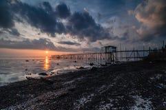 Sunset at Punggor Beach Royalty Free Stock Images
