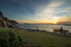 Sunset at Punta Ala, Tuscany Stock Image