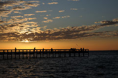 Sunset Punta Gorda. Sunset at Gilchrist Park in Punta Gorda FL royalty free stock image