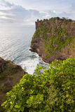 Sunset from the Pura Uluwatu temple on Bali Royalty Free Stock Images