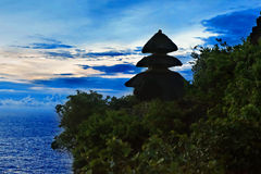 Sunset from Pura Uluwatu temple Stock Photos