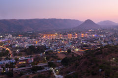 Sunset in Pushkar City, India Stock Images