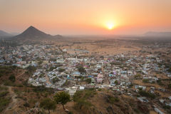 Sunset in Pushkar City, India Royalty Free Stock Photo