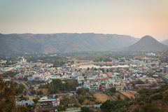 Sunset in Pushkar City, India Royalty Free Stock Images