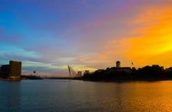 Sunset at Putrajaya Lake Stock Photo