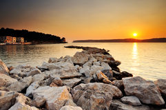 Sunset in Pylos, Greece Stock Photography