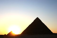 Sunset pyramids Royalty Free Stock Photo