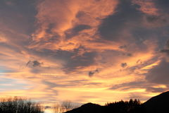 Sunset in Pyrenees Royalty Free Stock Photo