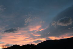 Sunset in Pyrenees Stock Image