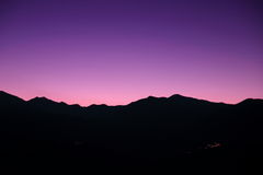 Sunset in Pyrenees Royalty Free Stock Photos