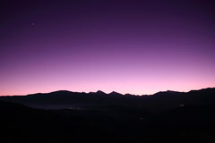 Sunset in Pyrenees Royalty Free Stock Photography
