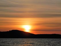 Sunset qestionnaire stock image