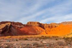 Sunset in the Quebrada de las Conchas, Argentina Stock Image