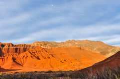 Sunset in the Quebrada de las Conchas, Argentina Royalty Free Stock Image