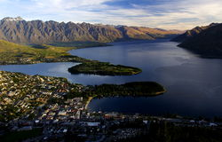 Sunset Queenstown. Overlook sunset queenstown New Zealand, 200711 Royalty Free Stock Image