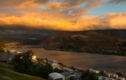 Sunset in Queenstown Royalty Free Stock Images