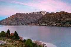 Sunset in Queenstown New Zealand Royalty Free Stock Photo