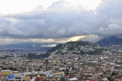 Sunset on Quito Royalty Free Stock Photography
