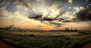 SUNSET AT RACECOURSE MUMBAI INDIA Stock Photos