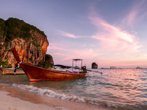 Sunset at Railay beach Royalty Free Stock Photo