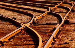 Sunset Railroad Tracks Royalty Free Stock Photography