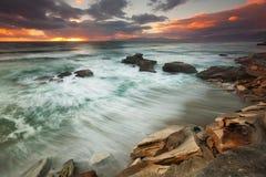 Sunset rain Royalty Free Stock Photo