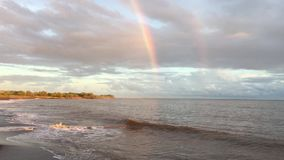 Sunset after rain in Waimea on Kauai Island in Hawaii. stock video