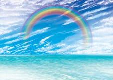 Sunset rainbow Stock Image