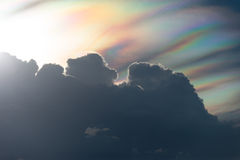 Sunset with rainbow cloud Stock Photos