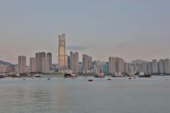 Sunset at Rambler Channel, Hong Kong Stock Photos