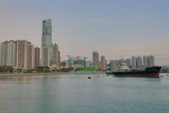 Sunset at Rambler Channel, Hong Kong Royalty Free Stock Photo