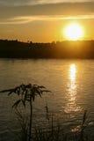 The sunset on the rapti,chitwan,nepal Royalty Free Stock Photos