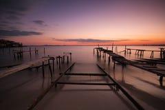 Sunset at Ravda. Beach, Bulgaria royalty free stock photo