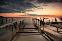 Sunset at Ravda, Bulgaria Royalty Free Stock Images