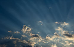 Sunset Rays Royalty Free Stock Photography