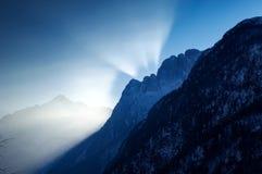 Sunset rays royalty free stock image