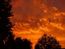 Sunset, Red, Clouds, Sky, Evening Royalty Free Stock Images