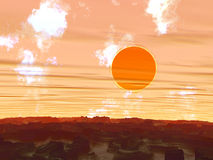 Sunset. Red planet Royalty Free Stock Photography