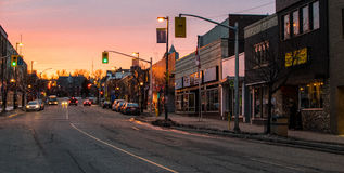 Sunset on Red River st. Royalty Free Stock Photo