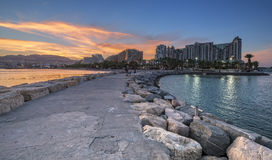 Sunset at the Red sea,Eilat Stock Image